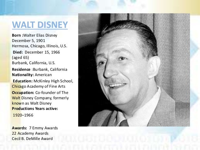 a biography of walt disney This cultural biography of walt disney shows how to think about disney's life and contributions in the context of the first half of the 20th century.