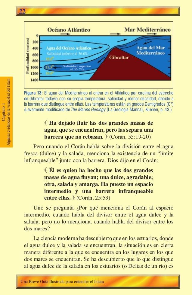 Capítulo1 AlgunasevidenciasdelaveracidaddelIslam 22 Figura 13: El agua del Mediterráneo al entrar en el Atlántico por enci...