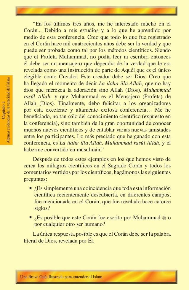 """36 Capítulo1 AlgunasevidenciasdelaveracidaddelIslam """"En los últimos tres años, me he interesado mucho en el Corán... Debid..."""