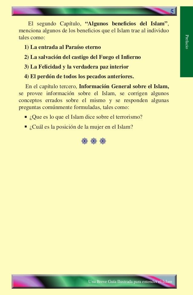 """5  El segundo Capítulo, """"Algunos beneficios del Islam"""", menciona algunos de los beneficios que el Islam trae al individuo ..."""