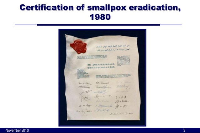 smallpox eradication Smallpox is an infectious disease caused by the variola virus it is contagious and has killed thousands find a list of symptoms related to smallpox.