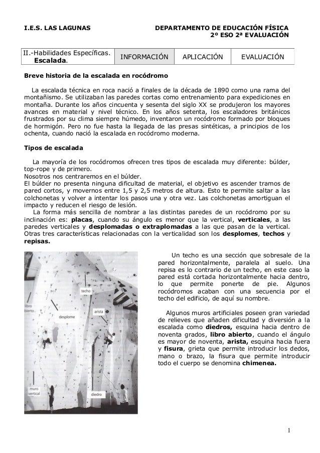 I.E.S. LAS LAGUNAS                        DEPARTAMENTO DE EDUCACIÓN FÍSICA                                                ...