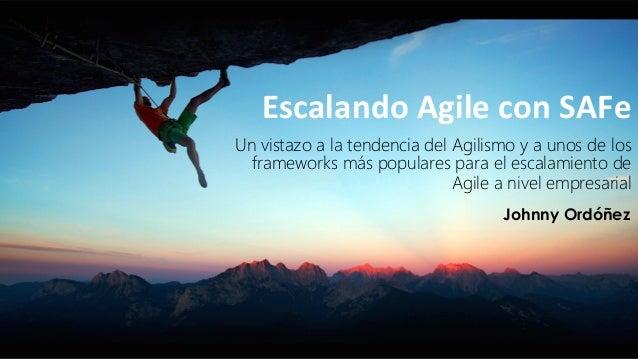 Un vistazo a la tendencia del Agilismo y a unos de los frameworks más populares para el escalamiento de Agile a nivel empr...
