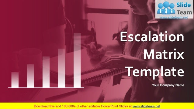 Escalation Matrix Template Your Company Name