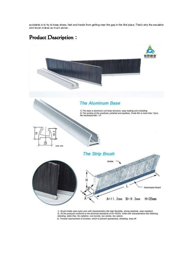 Escalator Skirt Brush in Aoqun Brush industry Co., Ltd Slide 2