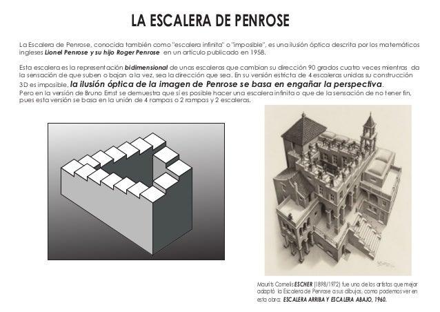 Escalera Imposible De Penrose Dibujo Paso A Paso