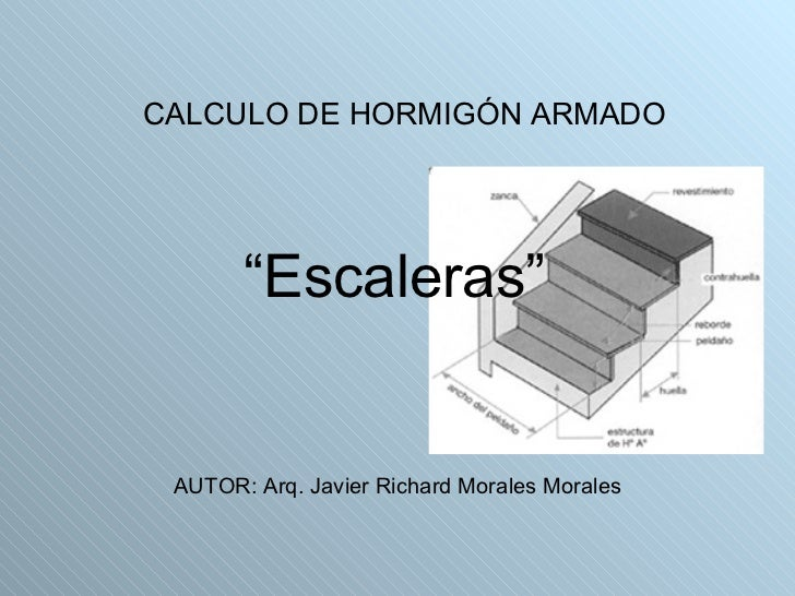 Calculo de hormig n armado escaleras for Hacer escalera de hormigon