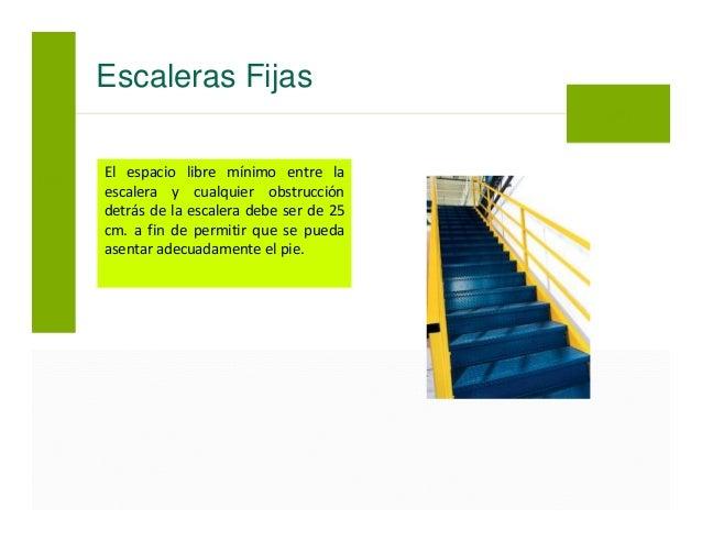 Uso seguro de escaleras for Normas de seguridad para escaleras fijas