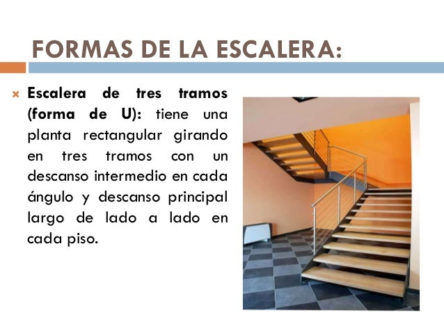 Escaleras tipos for Escaleras en forma de u