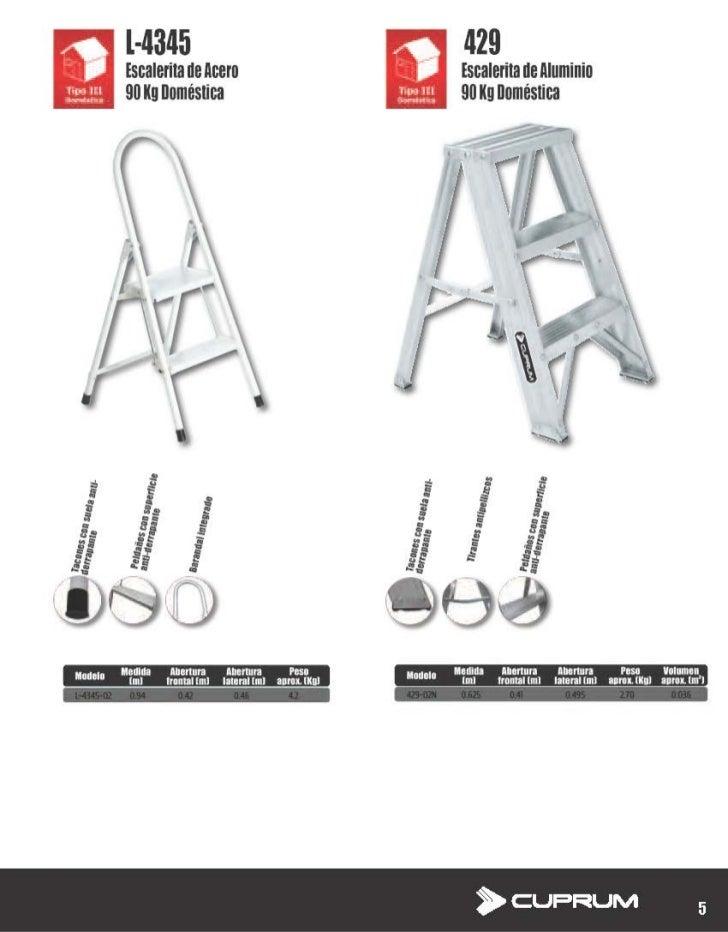 Escalerita de aluminio cuprum d 4345 l 4345 429 for Escaleras de trabajo