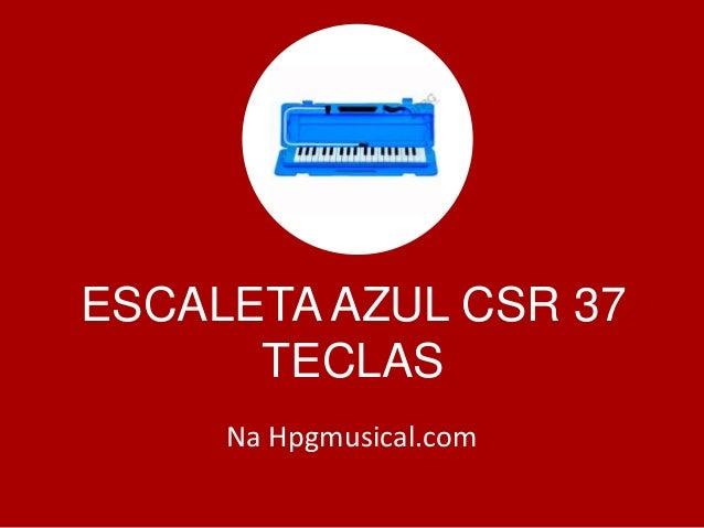 ESCALETA AZUL CSR 37 TECLAS Na Hpgmusical.com