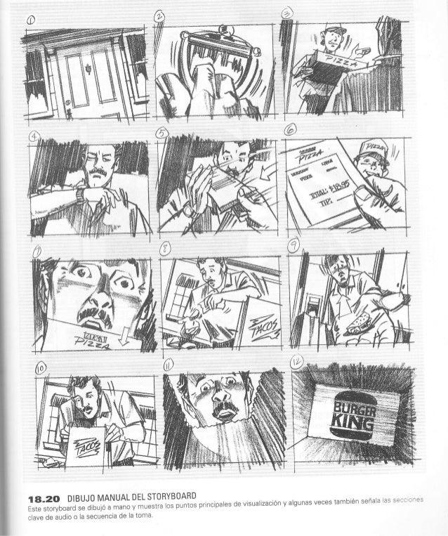 %o  .Ét''$g,'' IA-2O DIBUJO MANUAL DEL STORYBOARD Este storyboard se dibujÓ a mano y muestra los puntos principales de vis...