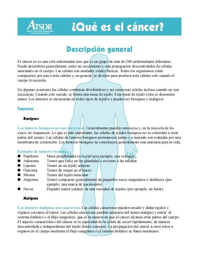 ¿Qué es el cáncer? Descripción general El cáncer no es una sola enfermedad sino que es un grupo de más de 200 enfermedades...