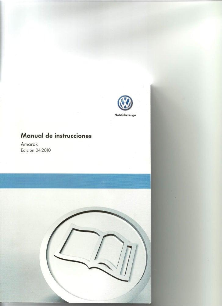 Manual del Usuario VW Amarok 1