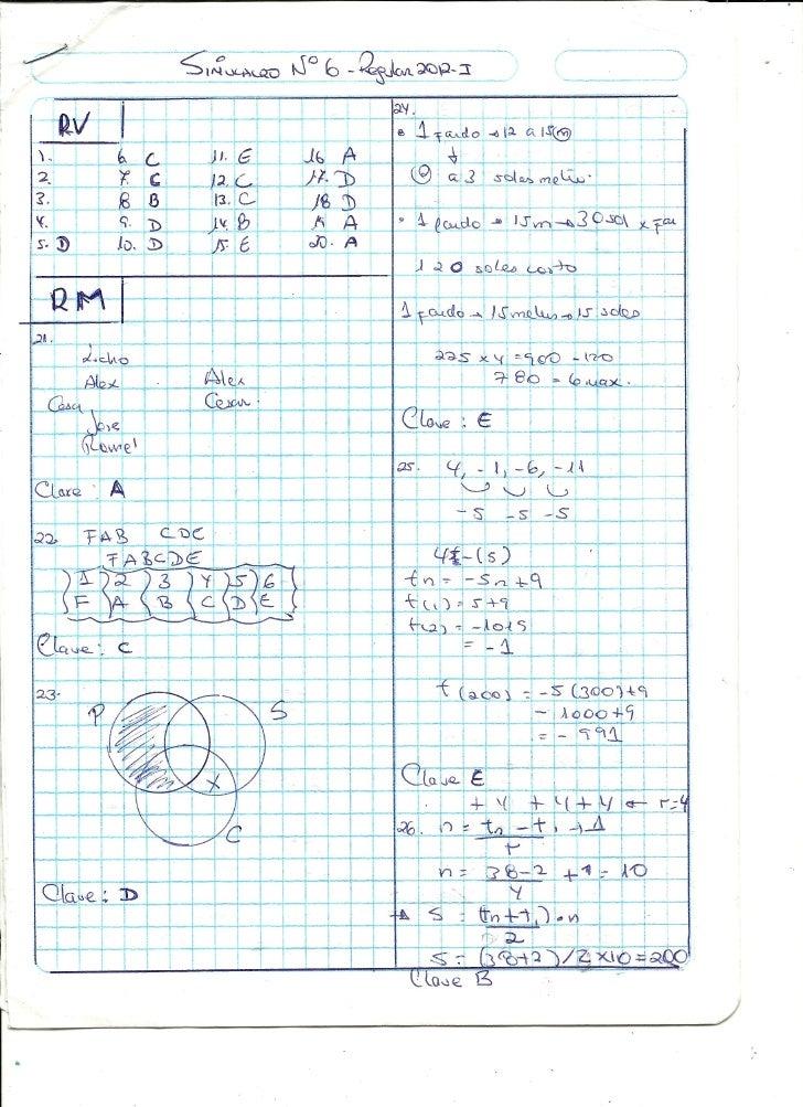 Simulacro 6  solucionario