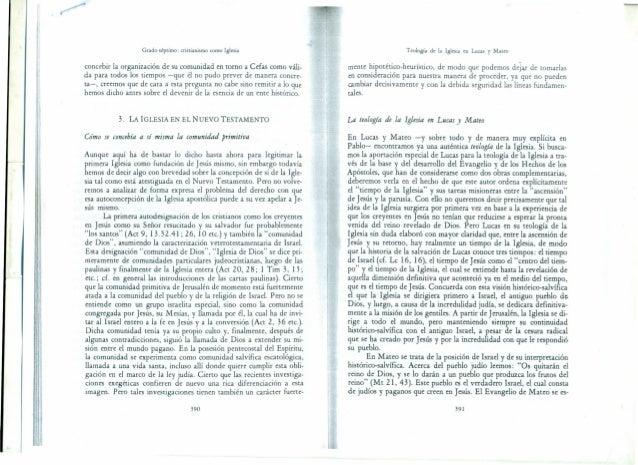 Grado séptimo: cristianismo como Iglesia concebir la organización de su comunidad en torno a Cefas como váli- da para todo...