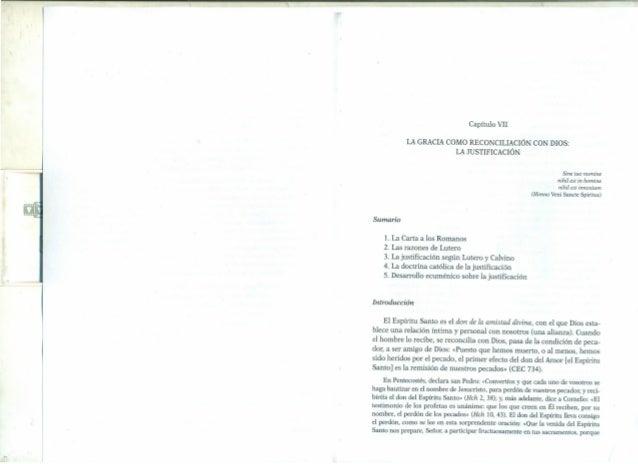Capítulo VII LA GRACIA COMO RECONCILIACIÓN CON DIOS: LA JUSTIFICACIÓN Sine tuo numine nihil es! in homine nihil es! innoxi...