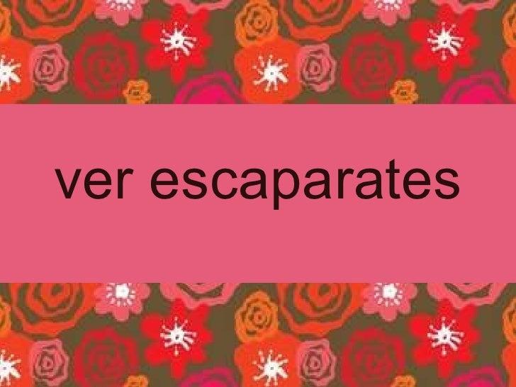 ver escaparates