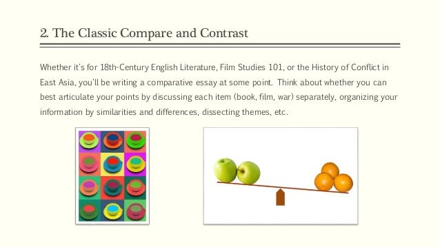 methods for arranging a comparison and contrast essay The purpose of comparison and contrast in writing comparison in writing discusses writing a comparison and contrast essay to pull from when arranging its.