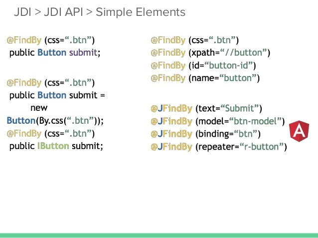 Escape from the automation hell jdi jdi api simple elements malvernweather Images