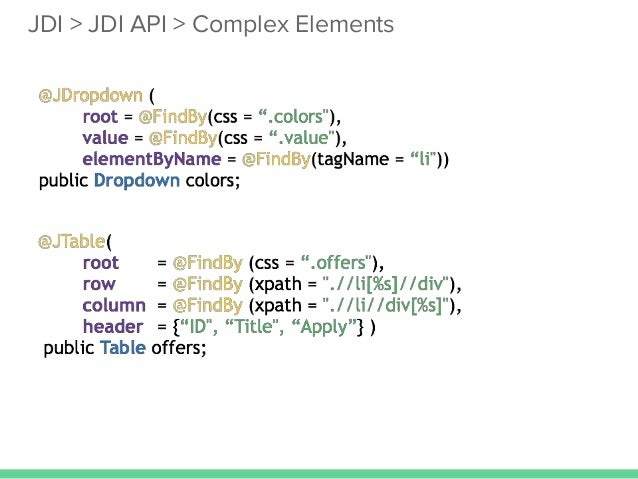 Escape from the automation hell jdi jdi api complex elements malvernweather Images