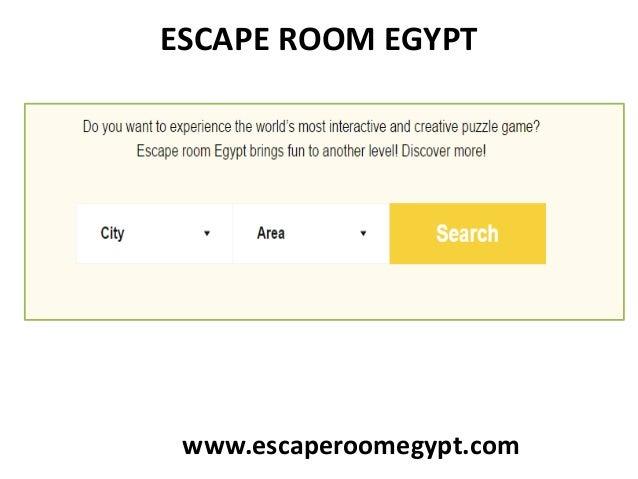 ESCAPE ROOM EGYPT www.escaperoomegypt.com