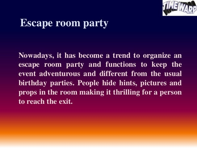 Enjoy escape room party for Escape room party