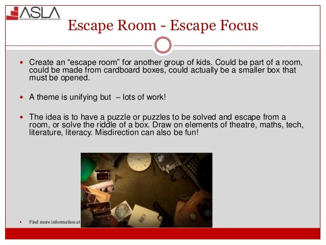 Online Escape Room Elements