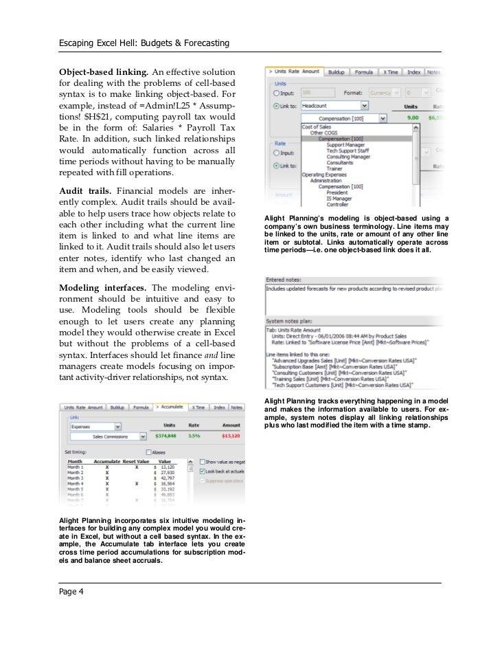Budgeting u0026 Forecasting: Replacing Excel