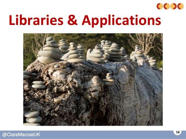 14 @ClareMacraeUK@ClareMacraeUK Libraries & Applications