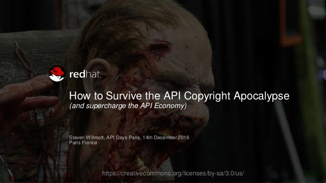 How to Survive the API Copyright Apocalypse (and supercharge the API Economy) Steven Willmott, API Days Paris, 14th Decemb...