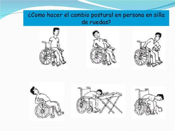 ¿Como hacer el cambio postural en persona en silla de ruedas?