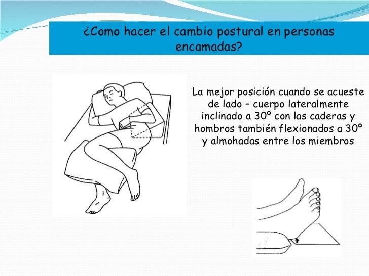 ¿Como hacer el cambio postural en personas encamadas? La mejor posición cuando se acueste de lado – cuerpo lateralmente in...