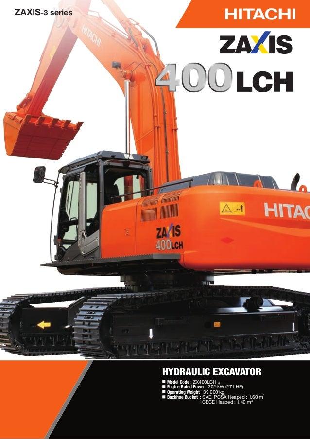 Escavadeira hdraulica hitachi 400 lch