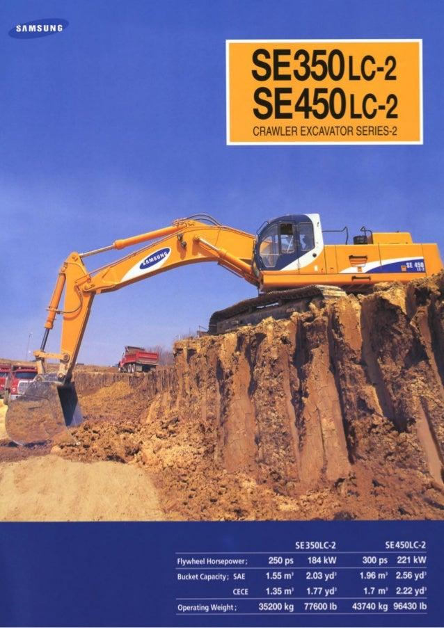 Escavadeira hidraulica volvo sansung se450lc 2