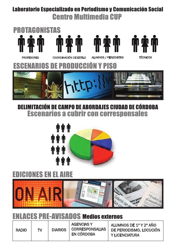 Laboratorio Especializado en Periodismo y Comunicación Social                 Centro Multimedia CUPPROTAGONISTAS   PROFESO...
