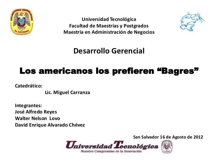 Universidad Tecnológica                        Facultad de Maestrías y Postgrados                       Maestría en Admini...
