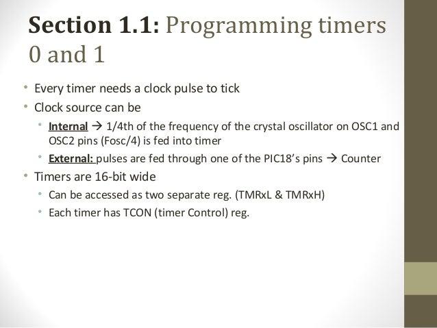 PIC timer programming