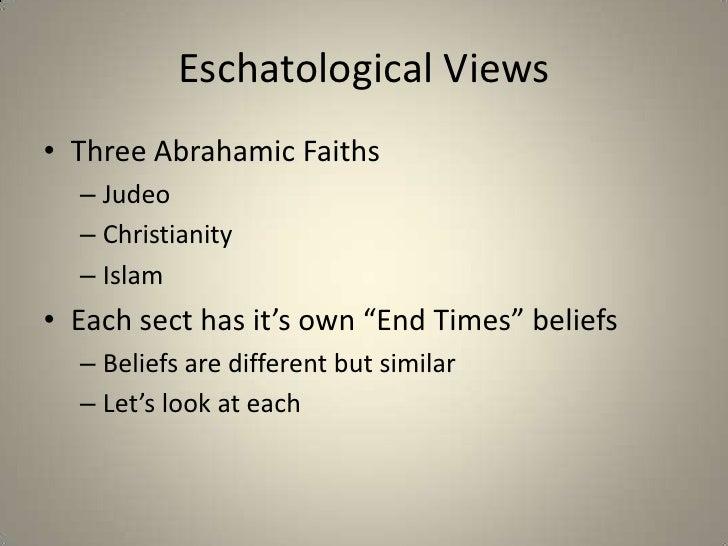 the development of eschatological events