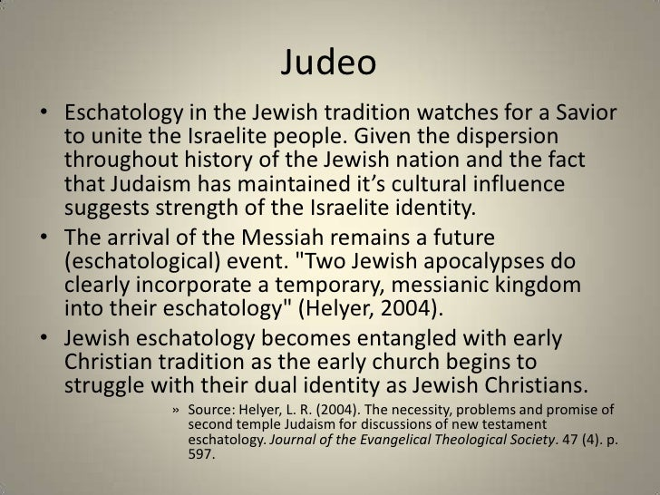 eschatology through the lens of current events email