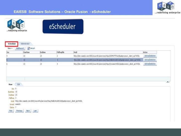 E scheduler