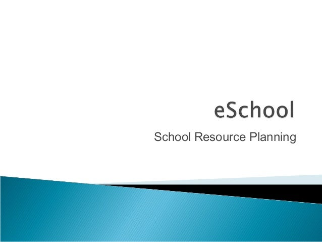 School Resource Planning