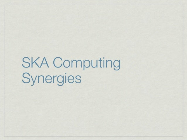 SKA ComputingSynergies