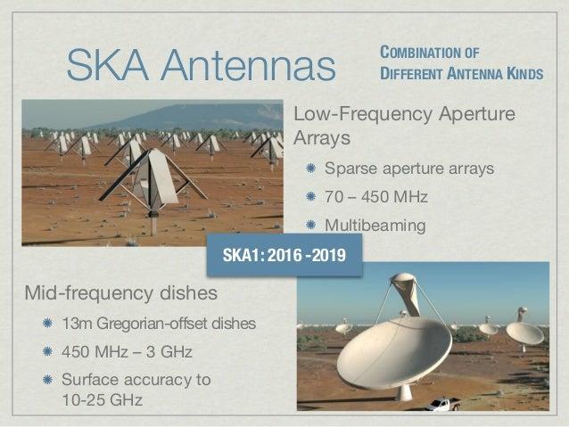 SKA Antennas                                             COMBINATION OF                                             DIFFER...