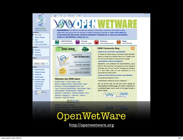 OpenWetWare                         http://openwetware.org  mercredi 2 juin 2010                             107