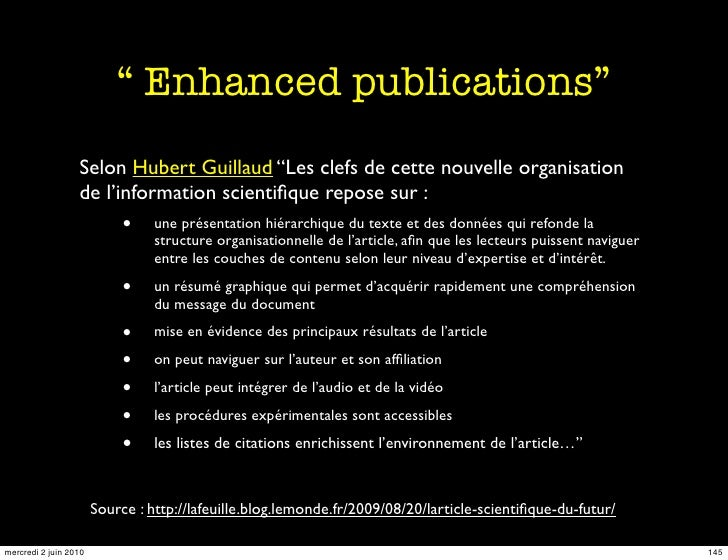 """"""" Enhanced publications""""                   Selon Hubert Guillaud """"Les clefs de cette nouvelle organisation                ..."""