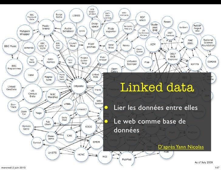 Linked data                        •   Lier les données entre elles                         •   Le web comme base de      ...