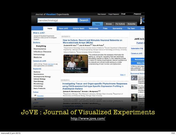 JoVE : Journal of Visualized Experiments                                      http://www.jove.com/   mercredi 2 juin 2010 ...