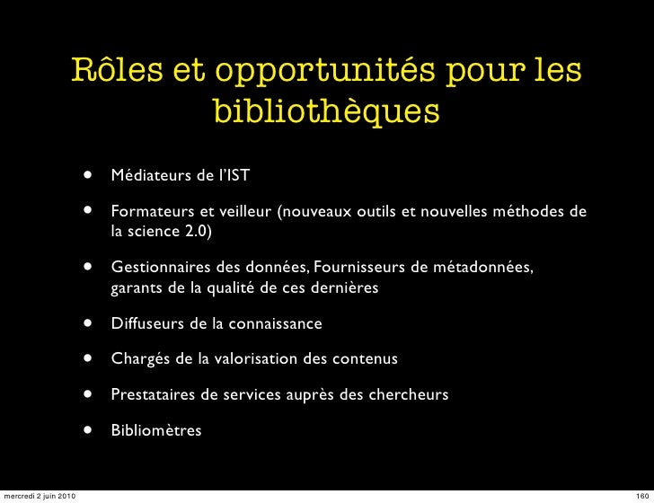 Rôles et opportunités pour les                            bibliothèques                        •   Médiateurs de l'IST    ...