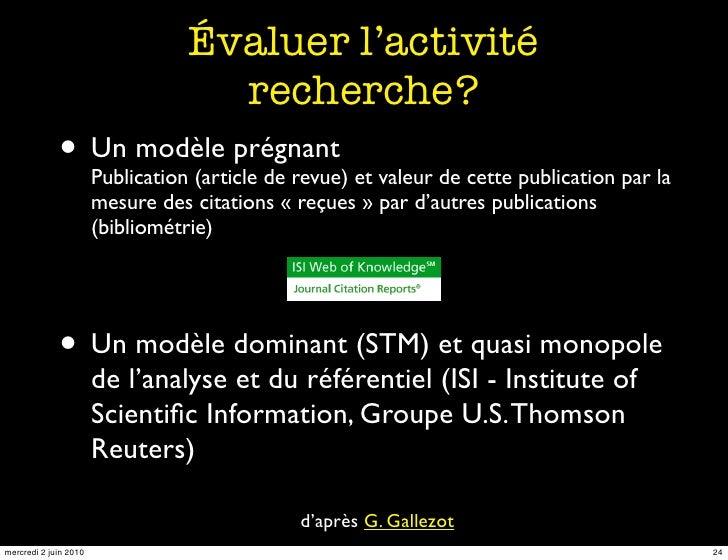 Évaluer l'activité                                       recherche?              • Un modèle prégnant et valeur de cette p...